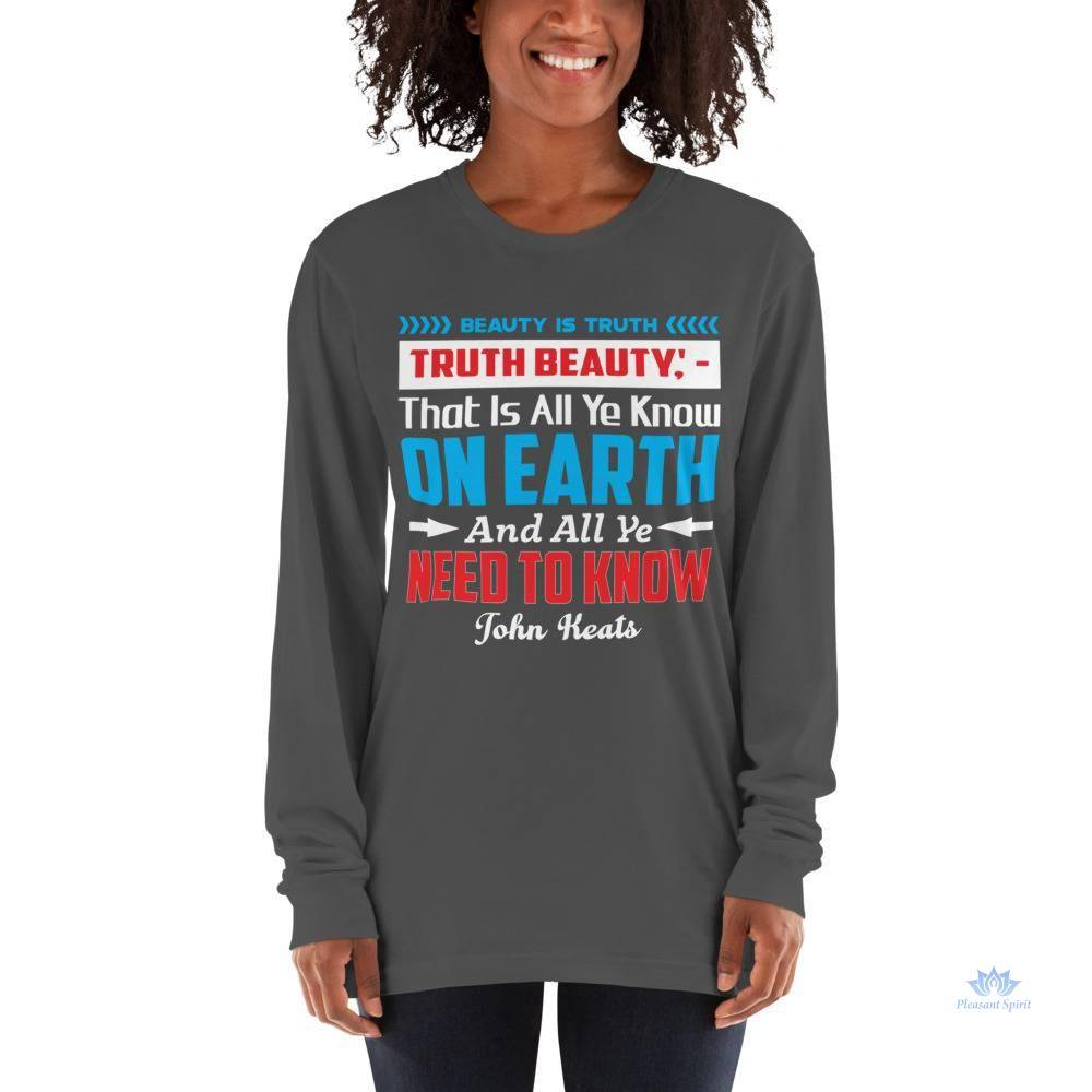 Keats Truth is Beauty Unisex Long sleeve t-shirt Apparel