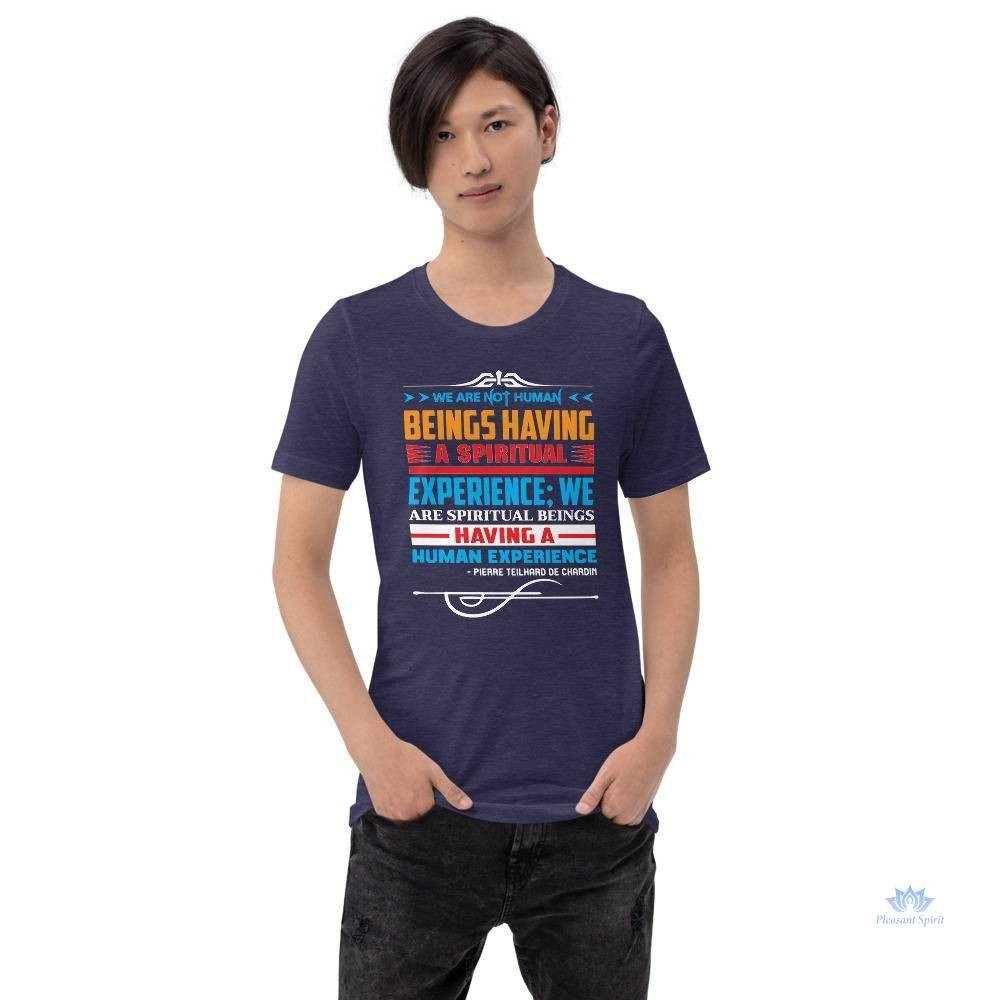 We Are Spiritual Beings Short-Sleeve Unisex T-Shirt Apparel